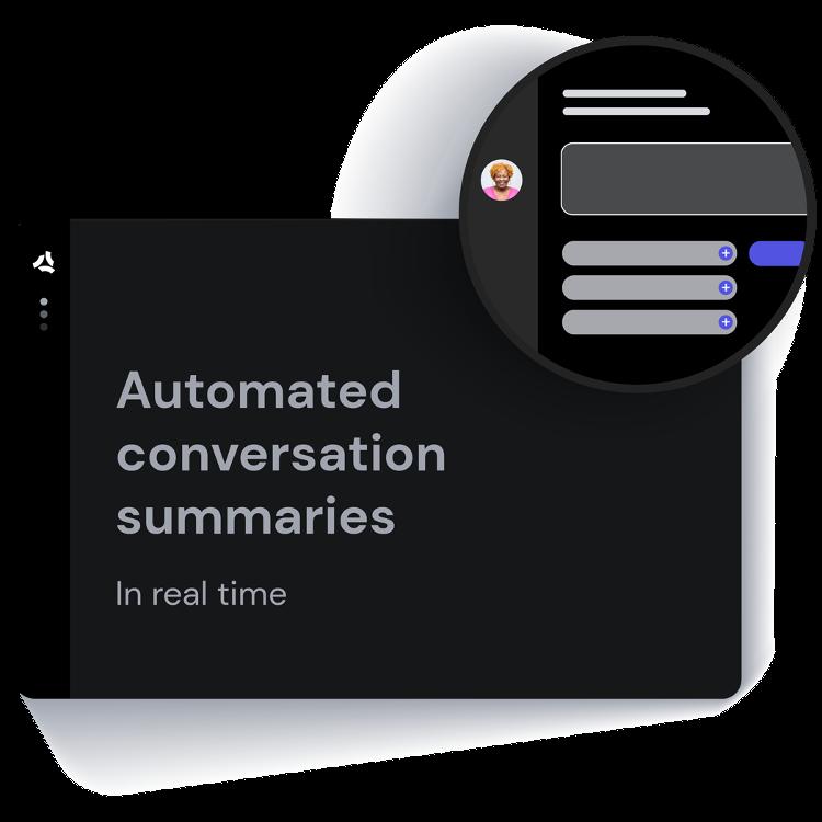 ASAPP - Automated conversation summaries